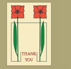 Dard Hunter Thank You Notecards