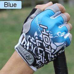 Gel Pad Half Finger Men Mountain Bike Anti-Slip Breathable Shockproof Cycling Gloves