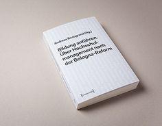 """Book design """"Bildung anführen"""""""