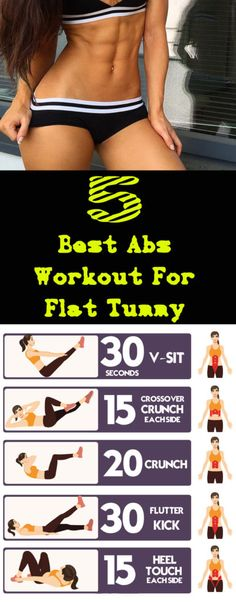 5 Best Abs Workout For Flat Tummy #tummy #fitness #abs #workout #beauty