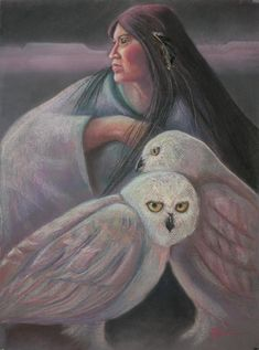 Keeper Of The Dreams ~ Pamela Mccabe, pastel Native American Pictures, Native American Artists, Dream Painting, American Indian Art, Animal Totems, Owl Art, Western Art, Spirit Animal, Illustration Art