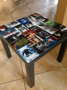 Find similar to store DVDs in table?  ---Classic Horror Movie Table by PanelByPanel on Etsy, $130.00