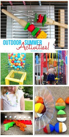 Outdoor DIY Summer Activities for Kids | landeelu.com