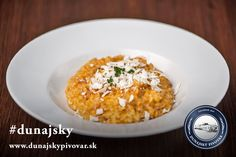 Tekvicové rizoto s kozím syrom a slaninkou #dunajsky