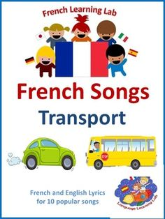 Transport French Song booklet. 10 popular French songs in the Transport theme. Learn how to sing 'Wheels on the bus', 'Row your boat' and 'Zoom, zoom, zoom' in French for example!The booklet contains the lyrics in French and English to support second language learning.