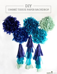 This DIY ombré tissue paper backdrop makes any celebration a bit more fun! | Cardstore Blog