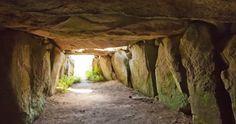 Guernsey's Megalithic monument - la Varde Dolmen. Located at L'Ancresse, this is the largest surviving Megalithic structure in the island - over 10m long.
