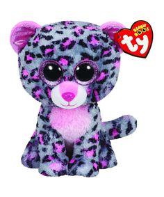 Original 15 cm Ty Beanie Boos Big Eyes Plush Toy Doll Tasha The Grey and  Pink Leopard Baby Kids Gift e19827f8ff5a