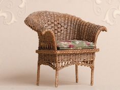 WC/018, wicker chair, scale 1 : 12, made by Will Werson.