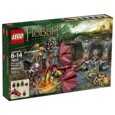 Outwit Smaug, the fire-breathing dragon as Bilbo Baggins with the LEGO The Hobbit: The Battle of the Five Armies - The Lonely Mountain Building Set complete with Arkenstone-encrusted throne and sliding pulley. Lego Le Hobbit, The Hobbit, Hobbit Feet, Legos, Smaug Dragon, Hobbit Dragon, Fire Breathing Dragon, Bilbo Baggins, Buy Lego