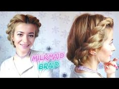 EASY HAIRSTYLE EVERYDAY ROPE TWISTED HALO MILKAMID BRAID UPDO | Awesome ...
