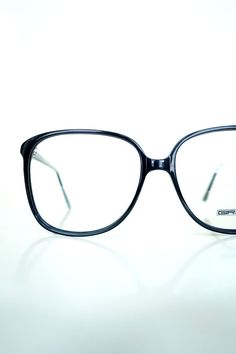 9d3ecafa89e 1980s Black Oversized Glasses Vintage Eyeglasses Retro Oversized Glasses