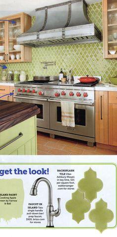 Love these kitchen backsplash tiles