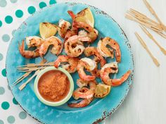 Grilled Shrimp with Grilled Tomato Cocktail Sauce Recipe : Food Network Kitchen