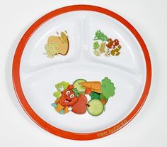 Vegetarian Kids healthy eating plate