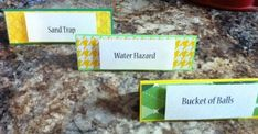 Golf themed food labels by on Etsy Golf Party Foods, Food Themes, Food Labels, Fathers Day, Party Favors, Cards Against Humanity, Creative, Handmade, Etsy