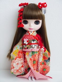 Details about OOAK Custom Blythe Doll Japanese Geisha Girl Handmade ...