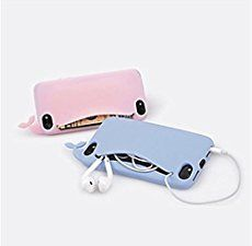For 5 Case Cute Whale for iPhone 4 5 Case Silicone Storage Back Cover Headphones Housing Card Holder Iphone 4 Cases, Iphone 5 6, 5s Cases, Apple Iphone, Coque Samsung J3, Coque Iphone 5s, Headphone Storage, Telephone Iphone, Cute Whales