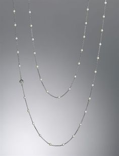 Pearls and Yurman - two of my favorite things! Silver & Gold Chain Necklaces, Bead Necklaces | Women's Jewelry | David Yurman