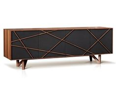 Lacquered wooden sideboard with doors BRAVE - ENNE