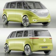 Volkswagen ID Buzz Concept 2017: a Kombi do Futuro! Uma nova era dá mobilidade elétrica começou com esse conceito diz a Volks. Revelada no Salão de Detroit a I.D. Buzz é a Kombi do futuro elétrica e com sistemas de direção autônoma. Baseada na plataforma Modular Electric Drive Kit (MEB) tem tração integral e um output de 269 cavalos e autonomia de 600 km graças a bateria de 111 kWh que fica no assoalho. São dois motores elétricos um em cada eixo. O nome I.D. Buzz vem da seguinte composiçã...