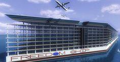 rogetto per la città galleggiante Freedom-Ship. rogetto per la città galleggiante Freedom-Ship.