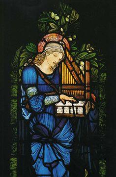 St. Cecilia window by Sir Edward Burne-Jones in Second Presbyterian Church, Chicago, IL, installed 1903.