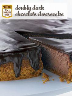 Doubly Decadent Dark Chocolate Cheesecake