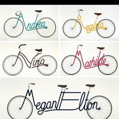 name bike art - want one with the 4 of us