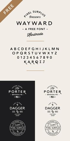 Wayward / Free font / #handmade