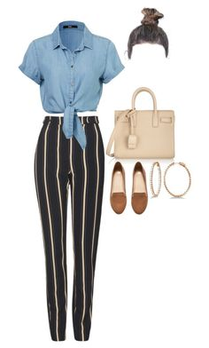 Leaving Barney's with Lyn by nytown on Polyvore featuring polyvore fashion style Topshop H&M Yves Saint Laurent Allurez clothing