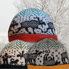 Ravelry: Moose hats pattern by Jorid Linvik