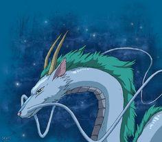 spirited away fanart dragon - Google Search
