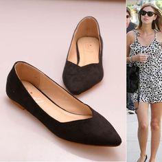 Fall Velvet Simple Light Flat Shoes