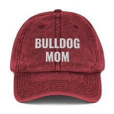 Womens Baseball Cap Mom of A Corgi Dog Vintage Distressed Unstructured Dad Hat