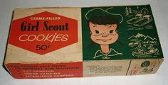 vintage girl scout cookie box -- back when they were around 50 cents a box