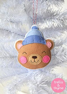 This listing is for an instant-download PDF-PATTERN. It is not a finished toy. This darling felt ornament is stitched entirely by hand, and is the perfect pattern for adventurous beginners. Finished Chocolate Bear is approximately 4.75 inches tall. Skills required: - Basic embroidery skills - Blanket stitch - Back stitch - Stem stitch - Applique stitch This PDF pattern includes: - Materials list - Charming step by step instructions featuring original illustrations - Full-size pattern tem...