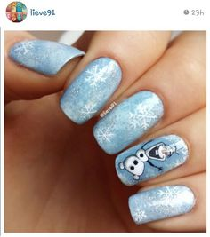 Frozen nail art!