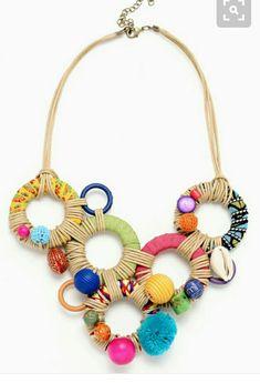 Jewelry OFF! Fiber Art Jewelry, Paper Jewelry, Textile Jewelry, Fabric Jewelry, Boho Jewelry, Jewelry Crafts, Jewelry Art, Beaded Jewelry, Jewelery