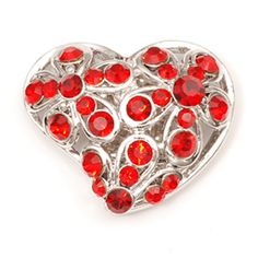 Silver & Red #charm #fashion #jewelry