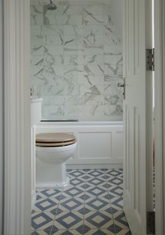 I would love to paint an accent wall with the floor tile pattern! floor tile | T. Craig, marble tiled walls