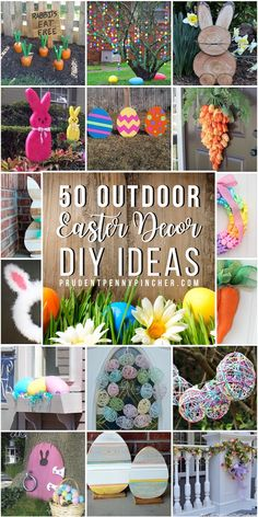 50 Best DIY Outdoor Easter Decorations : Brighten up your porch, yard and door for the spring season with these festive and creative DIY outdoor Easter decorations, which includes colorful garlands and egg-cellent porch decor ideas. Diy Osterschmuck, Diy Crafts, Bunny Crafts, Creative Crafts, Diy Girlande, Diy Kit, Diy Ostern, Diy Easter Decorations, Easter Centerpiece