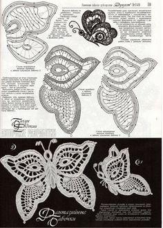 "Photo from album ""Дуплет on Yandex. Filet Crochet, Art Au Crochet, Russian Crochet, Crochet Motifs, Crochet Diagram, Freeform Crochet, Thread Crochet, Crochet Doilies, Crochet Stitches"