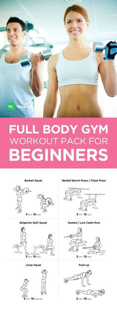 Full Body Gym Printable Workout Pack for Beginners – visit http://wlabs.me/1rx5MrY to download!