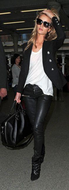 Rosie Huntington-Whiteley arrives in London