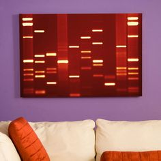 This is pretty cool - you can have part of your actual DNA sequence on canvas and hang it up in your living room!