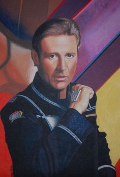 Bruce Boxleitner as Captain John Sheridan (Babylon 5)  Hobbytex 50 x 70 cm   painted by Catherine Scholz, 2012