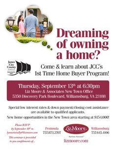Are You A 1st Time Home Buyer Who Lives Or Works In James City County