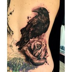 crow and rose tattoo - Google Search