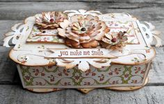 Crafting ideas from Sizzix UK: You make me smile box/ Valentine box